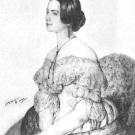 Мария Карловна Львова (жена Александра Сергеевича Львова). Портрет К. Мазера, 1842