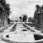 Усадьба Муромцево, водный каскад перед замком