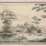 М. Воробьев. Вид села Никольского, 1812 г. (усадьба Никольское-Черенчицы)