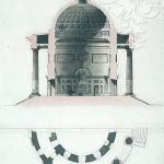 Усадьба Никольское-Черенчицы, Воскресенская церковь, чертеж А.Н. Львова, 1780-е гг.