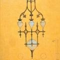Усадьба Одинцово-Архангельское, фрагмент проекта Ф. Шехтеля — эскиз светильника