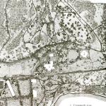 План усадьбы Одинцово-Архангельское (центральная часть). Из материалов реставрации