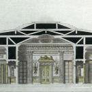 Усадьба Останкино. Продольный разрез павильона. 1793 г. В.Ф. Бренна