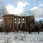 Усадьба Петровское Алабино руины дворца