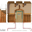 Усадьба Подушкино, фрагмент интерьера, проект реставрации