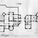 Усадьба Подушкино, замок Мейендорфов, план 1 этажа