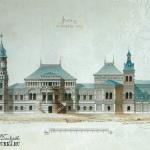 Усадьба Покровское-Стрешнево. Фасад усадебного дома со стороны сада. 1880-е гг. А.И. Резанов