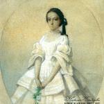 Портрет Е.Ф. Шаховской. Около 1860 г. Р. Каза