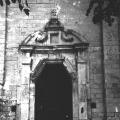 Усадьба Полтево, церковь Николая Чудотворца (портал). Фото Андрей Агафонов, 1 июля 1989.