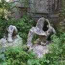 Усадьба Пущино, разбитые скульптуры львов