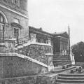Дворец Разумовского в Москве, фрагмент паркового фасада с лестницей