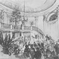 Дворец Разумовского на Гороховом поле, центральный парадный зал. Акварель неизв. художника