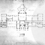 Дворец Разумовского на Гороховом поле. План бельэтажа главного корпуса. Копия 1830 г.