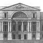 Дворец Разумовского, проект перестройки центрального корпуса (не осуществлен)