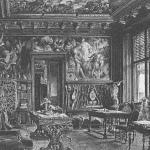Дворец Разумовского на Гороховом поле, гостиная с плафоном на потолке