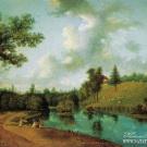 Вид парка в усадьбе П.Г. Демидова Сиворицы под Петербургом. С.Ф. Щедрин, ок. 1792 г