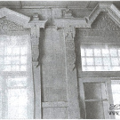 Усадьба Стуловых (Чекмариха), главный дом - резные наличники в интерьере