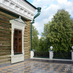 Усадьба Талицы купца Аигина, терраса между домом и флигелем