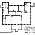 Усадьба Троицкое (Троицкое-Александрово) план главного дома