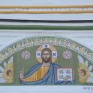 Усадьба Успенское, церковь Успения Пресвятой Богородицы (мозаика на западном фасаде)