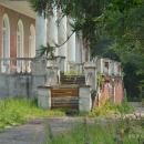 Усадьба Воробьево, лестница главного дома со стороны парка