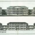 Усадьба Вороново, главный дом (фасад и разрез). Чертеж А.Н. Львова. 1790-е гг.