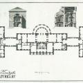 Усадьба Вороново, главный дом (план 2-го эт. и разрезы. Чертеж А.Н. Львова. 1790-е гг.)