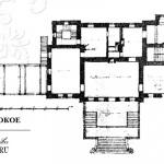 Усадьба Высокое. Проект Н.Л. Бенуа, план главного дома