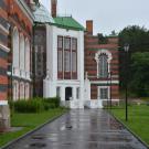 Замок Шереметевых в Юрино, парковый фасад (фрагмент)