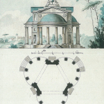 Усадьба Знаменское-Раек, парковый павильон. Чертеж Н.А. Львова, 1790-е гг.