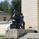 Усадьба Кузьминки, фрагмент главного фасада конного двора