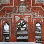Усадьба Пречистое, фронтон парадного фасада дворца