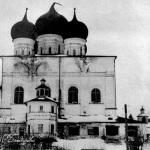 Валдайский Иверский монастырь. Успенский собор. Фото до 1967г.