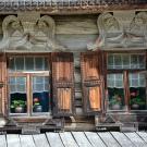 Музей деревянного зодчества Витославлицы, изба, фрагмент декора