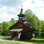 Музей деревянного зодчества Витославлицы, часовня из д. Кашира