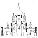Старая Русса. Воскресенский собор (разрез)