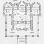 Усадьба Вяземы. План Преображенской церкви