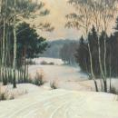 Б.В. Щербаков, Зима в Ясной Поляне, 1977