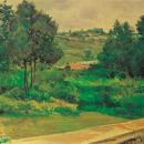 В.В. Богаткин. Ясная Поляна. Вид с балкона дома Л.Н. Толстого, 1950
