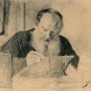 Т.Л. Сухотина-Толстая, Л.Н. Толстой за работой, 1910