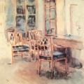 Л.О. Пастернак, комната для приезжих в яснополянском доме Л.Н. Толстого, 1893
