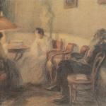 Л.О. Пастернак, Л.Н. Толстой в кругу семьи, 1902-1903
