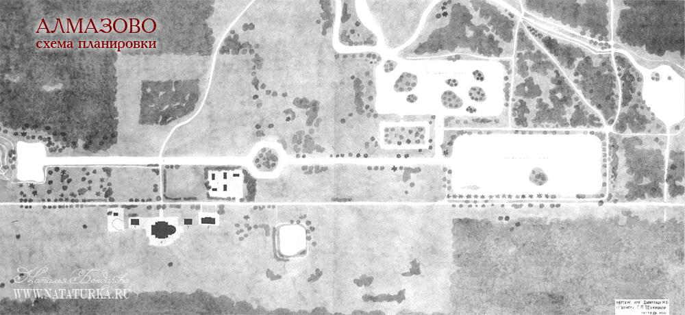 План усадьбы Алмазово 1946-1947 гг.