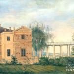 Вид усадьбы Остафьево. 1817 г.  И.Е. Вивьен де Шатобрен