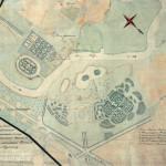 Архивный план усадьбы Осташево