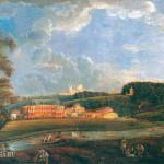 Усадьба Отрада. Вид от реки Лопасни. 1850-е гг.