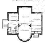 Усадьба Райки, «Американский дом». План 1-го этажа. Арх. Л.Н. Кекушев, 1900 г.