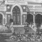 Усадьба Шелковка. Парковый фасад главного дома, 1905