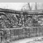 Усадьба Абрамцево, керамический диван