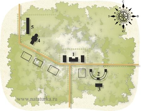 План усадьбы Богородское